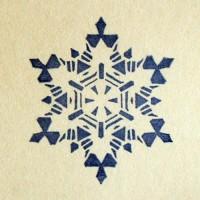Снежинка № 1, силиконовый штамп