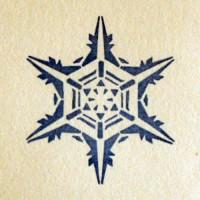 Снежинка № 3, силиконовый штамп