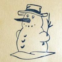 Снеговик, силиконовый штамп