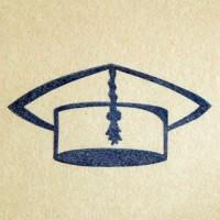 Учёная шапка, силиконовый штамп