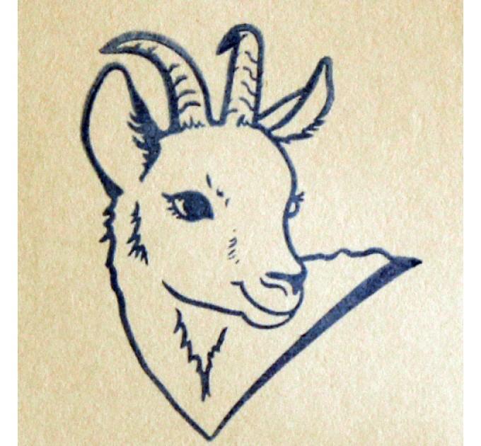 Коза, силиконовый штамп