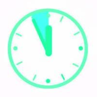 Новогодние часы, силиконовый штамп