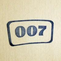 007, силиконовый штамп
