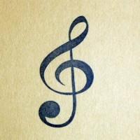 Скрипичный ключ, силиконовый штамп