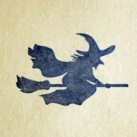 Ведьмочка, силиконовый штамп