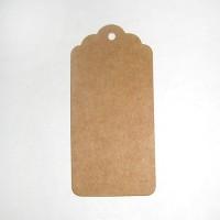 Бирка картонная, крафт, 10 шт