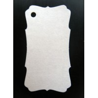 Бирка картонная белая рамка, 10 шт