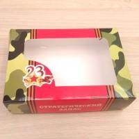 """Коробка для мыла """"23 февраля """", 15*14*4 см"""