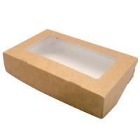 Коробка крафт с окном, 20х12х4 см