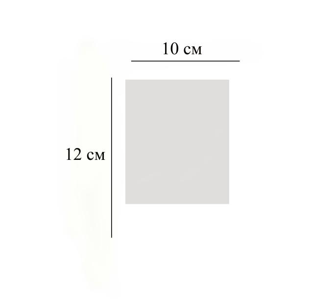 Пакет  прозрачный, 10х12 см, 10 шт