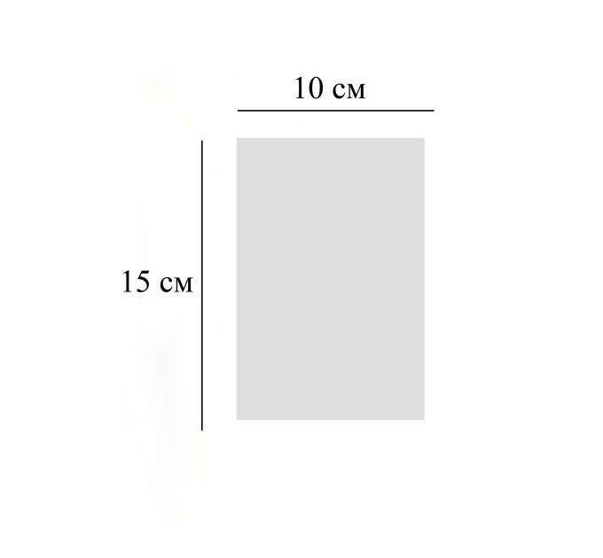 Пакет  прозрачный, 10х15 см, 10 шт
