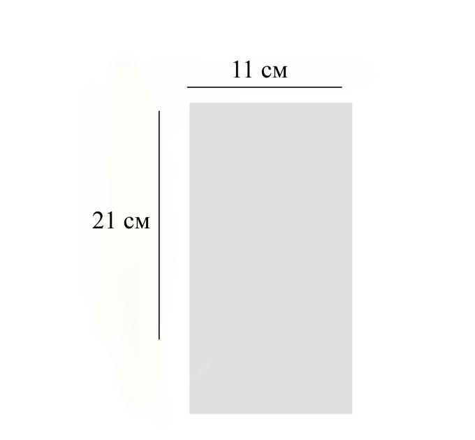 Пакет  прозрачный, 11х21 см, 10 шт