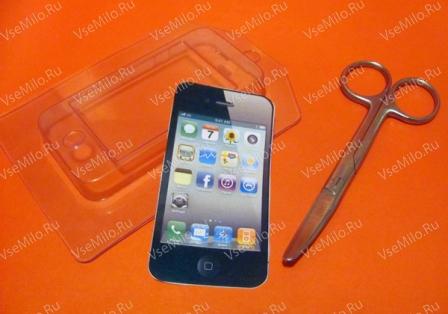 пластиковая форма для мыла смартфон